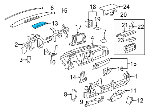 2013 Gmc Sierra Grille Diagram 2013 Toyota Highlander