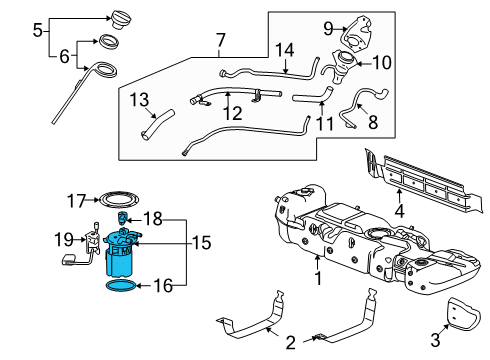 GM 19208961 - Genuine GM Fuel Pump Assembly