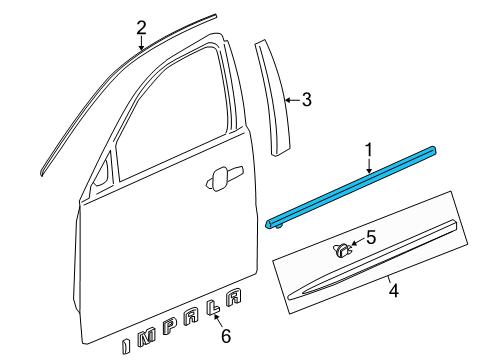 chevrolet 23222985 genuine chevrolet belt molding. Black Bedroom Furniture Sets. Home Design Ideas
