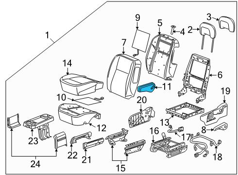 gm 89044131 genuine gm armrest asm driver seat gray. Black Bedroom Furniture Sets. Home Design Ideas