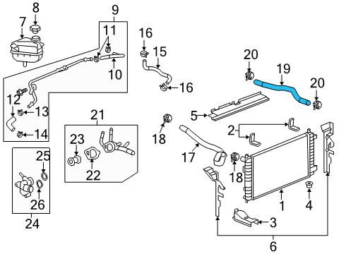 Pontiac G6 Radiator Diagram Mitsubishi Eclipse Radiator