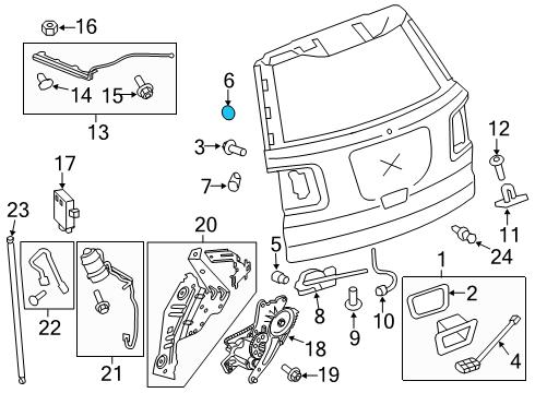 gm 15259076 genuine gm trunk lid plug Buick Enclave Wiring-Diagram