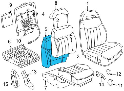 Gm 12548701 Pad D Seat Bk Cush