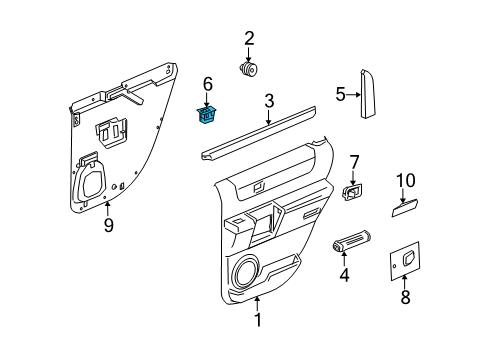 gm 15093146 - genuine gm window switch 2006 hummer h2 belt diagram