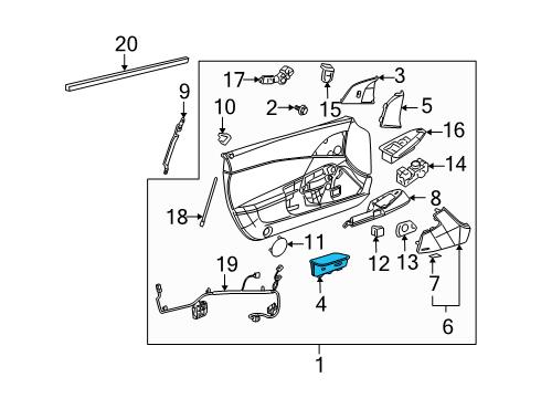2011 Chevrolet Corvette Base 8 Cyl 6.2 L GAS INTERIOR TRIM - DOOR