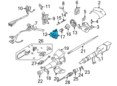 Diagram Ignition Switch Actuator Pin Auto Zone Money Zone