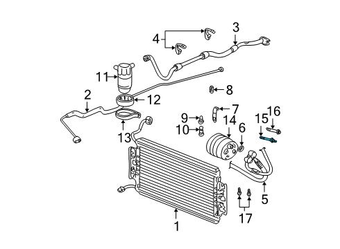 2001 Oldsmobile Alero GX 4 Cyl 2.4 L GAS CONDENSER, COMPRESSOR & LINES