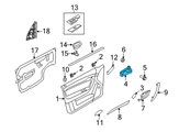 GM Door Handle - 96462709 and Related Parts