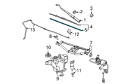 Chevrolet Windshield Wiper - 88958224 and Related Parts