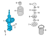 Chevrolet Shock Absorber - 96980825 and Related Parts