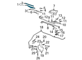 GM Wiper Blade - 15214346 and Related Parts