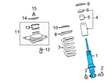Chevrolet Shock Absorber - 92195484 and Related Parts