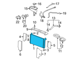 Chevrolet Radiator - 22840116 and Related Parts