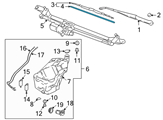 GM Windshield Wiper - 12368668 and Related Parts