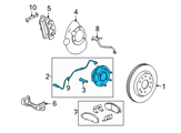 GM Wheel Bearing - 22841380 and Related Parts
