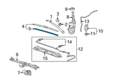 GM Windshield Wiper - 92212325 and Related Parts