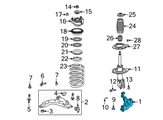 GM Steering Knuckle - 23127629 and Related Parts