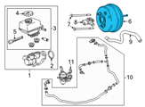 Chevrolet Brake Booster - 92457839 and Related Parts