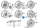 Chevrolet Wheel Cover - 20937764 and Related Parts