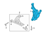 GM Steering Knuckle - 96870494 and Related Parts
