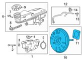 Chevrolet Brake Booster - 13486140 and Related Parts