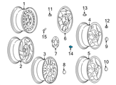 Chevrolet Wheel Cover - 9594435 and Related Parts