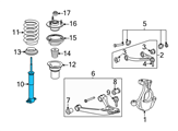 Chevrolet Shock Absorber - 20955486 and Related Parts