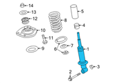 Chevrolet Shock Absorber - 92269317 and Related Parts
