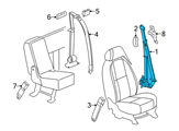 GM Seat Belt - 19256134 and Related Parts