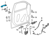 GM Door Handle - 13583889 and Related Parts