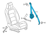 GM Seat Belt - 84018455 and Related Parts