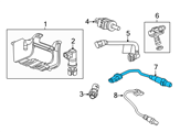 GM Oxygen Sensor - 12652845 and Related Parts