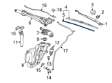GM Windshield Wiper - 25892081 and Related Parts
