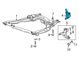 GM Steering Knuckle - 95352713 and Related Parts