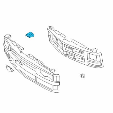 gmc 15717590 genuine gmc grille bracket. Black Bedroom Furniture Sets. Home Design Ideas