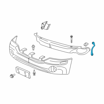Left Genuine GM 15193422 Bumper Fascia Brace Front