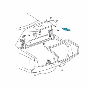Cadillac 25723462 - Genuine Cadillac Hinge Box