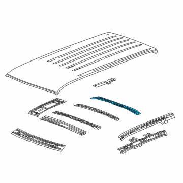 gm 23136307 genuine gm roof bow. Black Bedroom Furniture Sets. Home Design Ideas