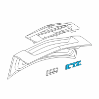 Cadillac Emblem - 25765400 and Related Parts