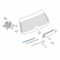 Saturn Wiper Blade - 22665009 and Related Parts