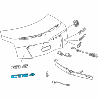 Cadillac Emblem - 25789084 and Related Parts