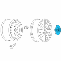 Buick Rainier Wheel Cover - 9595880 and Related Parts