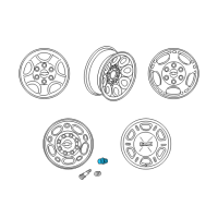 GMC Safari Wheel Cover - 9597158 and Related Parts
