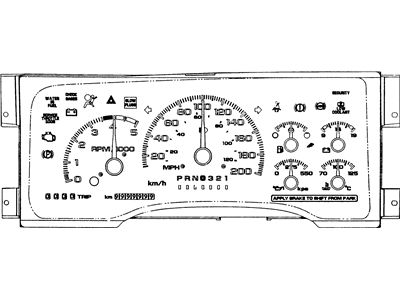 GM 16197145 CLUSTER, Instrument Panel Gage