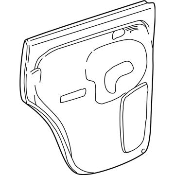 GM 10392971 Panel Asm-Rear Side Door Trim *Pewter R