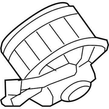 GM OEM Blower Motor Fan-Actuator 10397102